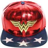 Bioworld Women's Licensed Wonder Women PU Suit Up Snapback Hat O/S Red