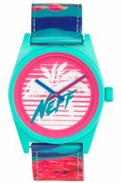 Neff Men's Daily Woven Watch Multi-Color Green