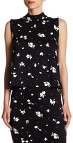 Vince Camuto Printed Sleeveless Blouse