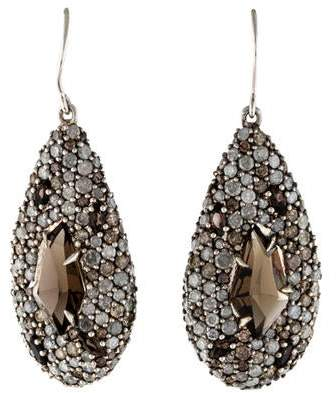 Alexis Bittar Smoky Quartz & Diamond Drop Earrings