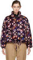 Isabel Marant Purple and Pink Velvet Quilted Telima Bomber Jacket