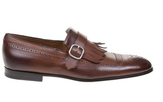 Doucal's Doucals Moccasin In Leather With Buckle Color Brown