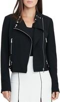 Lauren Ralph Lauren Twill Moto Jacket
