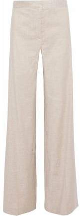 Theory Linen-blend Wide-leg Pants