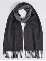M&s Collection Reversible Pure Cashmere Scarf