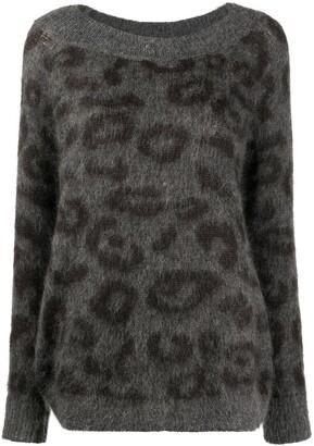P.A.R.O.S.H. Lambro leopard print jumper
