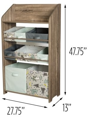 Honey-Can-Do Explore + Store 48-Inch Toy Organizer and Storage Unit