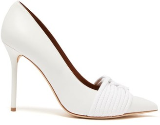 Malone Souliers Nauti Braided-rope Leather Pumps - White