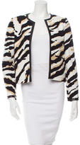 Gucci Printed Leather-Trimmed Jacket