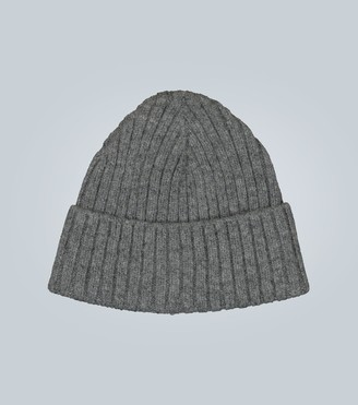 Sunspel Lambswool rib knit hat