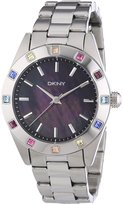 DKNY Women's NY8718 Silver Stainless-Steel Analog Quartz Watch with Dial