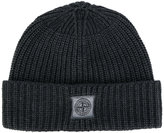 Stone Island knitted logo patch beanie