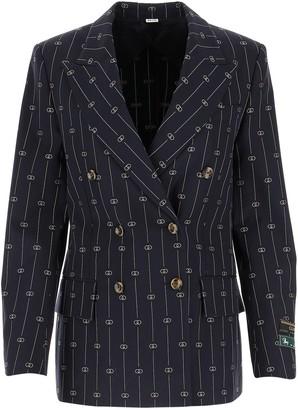 Gucci GG Pinstripe Double-Breasted Blazer