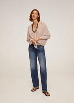 MANGO Fine-knit cardigan ecru - S - Women