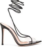 Gianvito Rossi Denise Heels in Black & Transparent | FWRD