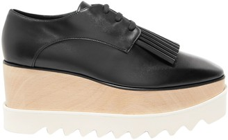 Stella McCartney Fringe-trimmed Faux Leather Platform Brogues