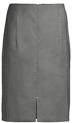 HUGO BOSS Velaiah Natural Stretch Wool Optic Suiting Skirt