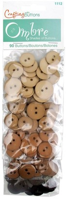 Blumenthal Ombre Craft Buttons, Pack of 90