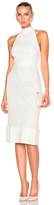 Lover Violet Fitted Halter Dress in White.