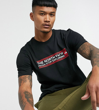 The North Face Slice Pack t-shirt in black Exclusive at ASOS