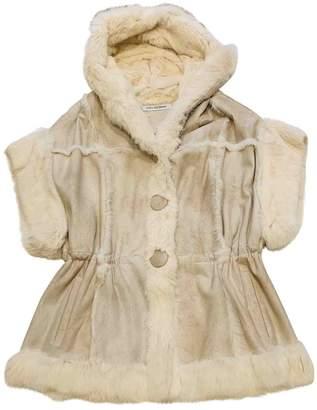 Yves Salomon Beige Rabbit Coats