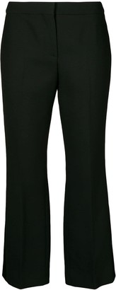 Alexander McQueen Bootcut Cropped Tailored Trousers
