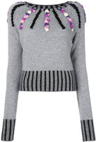 Olympia Le-Tan cashmere Margot embroidered sweater - women - Cashmere - S
