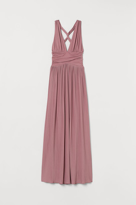 H&M Pleated Maxi Dress - Pink