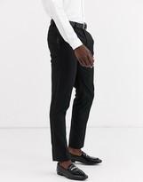 Asos Design DESIGN skinny tuxedo suit pants in black