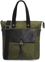 Ally Capellino iAgo Dark Green Luxe Nylon Tote Bag
