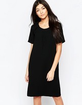 Ichi Capped Sleeve Shift Dress