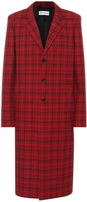 Balenciaga Checked cotton-blend coat