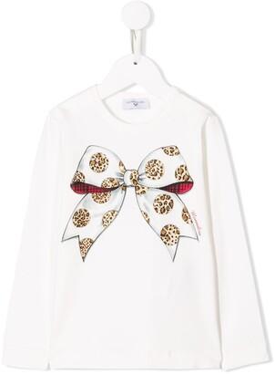 MonnaLisa Bow Print Sweater