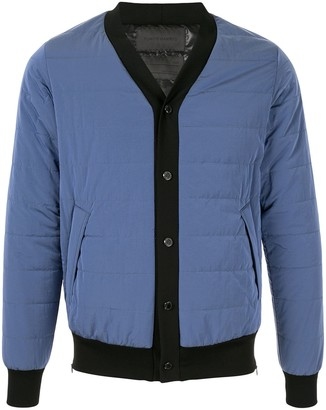 Fumito Ganryu Padded Button-Front Cardigan