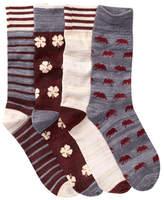 Lucky Brand Assorted Socks - Pack of 4