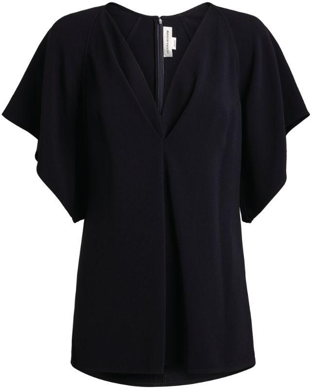 Victoria Beckham V-Neck Batwing-Sleeved Blouse