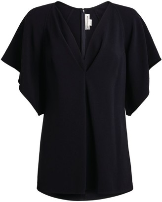 Victoria Beckham V-Neck Batwing-Sleeved Blouse