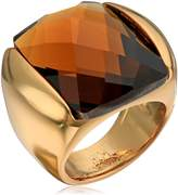 "Robert Lee Morris Cocktail Hour"" Faceted Stone Gold Sculptural Ring, Size 7.5"