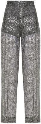 Just Cavalli Sequined Tulle Wide-leg Pants