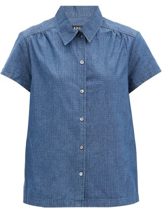 A.P.C. Cleo Ripstop-denim Shirt - Blue