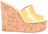 Giuseppe Zanotti Design wedge sandals - women - Cork/Leather - 36