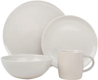 Canvas Home Llc Shell Bisque White 16-Piece Dinnerware Set