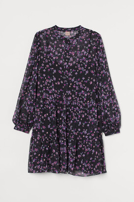 H&M H&M+ Chiffon Dress - Black
