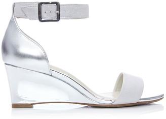 Moda In Pelle Parcia Silver Metallic Leather