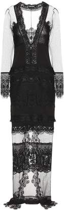 Tom Ford Macrame lace and tulle dress