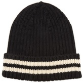 Junya Watanabe Striped-edge ribbed-knit wool hat