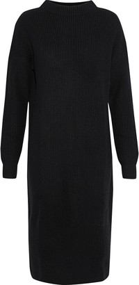 N.Peal Ribbed Cashmere Turtleneck Dress