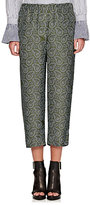 Burberry X Barneys New York Women's Paisley Silk Crop Pajama Pants-GREEN