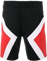 Neil Barrett tricolour modernist shorts - men - Cotton/Polyurethane/Spandex/Elastane/Viscose - L