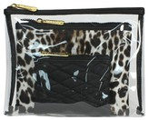 S.O.H.O New York Cattitude 3 Piece Clear Purse Kit Cosmetic Bag